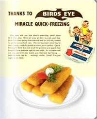 26 September – Clarence Birdseye begins selling frozen fish fingers in Britain for 1 shilling 8 pence, a product that still remains popular with families to this day. Fish Finger, Food Industry, Grocery Store, Frozen, Veggies, Birds, Fingers, Baking, Fruit