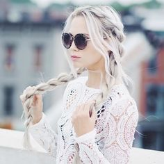 White blood hair braids