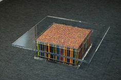Table of Pencils by sculptor Motohiro Tomii