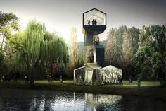 Follies in a Park by AWP + HHF Architects, Carrières sous Poissy, Paris, France | Buildings | Architectural Review