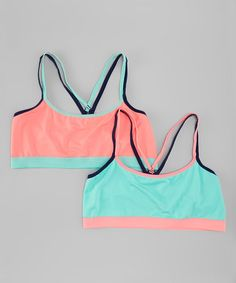 Loving this Coral & Aqua Sports Bra Set - Girls on #zulily! #zulilyfindsi also LOVE these colors as well
