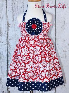 """Summer """"All American Girl"""" Halter dress"""