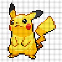 Pikachu – Minecraft Pixel Art - Minecraft World Pikachu Pikachu, Pixel Art Pikachu, Pixel Art Kawaii, Pixel Art Anime, Minecraft Kunst, Minecraft Pixel Art, Disney Minecraft, Minecraft Buildings, Pixel Art