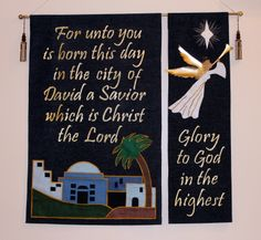 Focus on Christmas 2013 - Banner made by Nancy and Dan Brown Christ The King, Dan Brown, Lutheran, Savior, Ohio, Banner, Lord, Christmas, Banner Stands