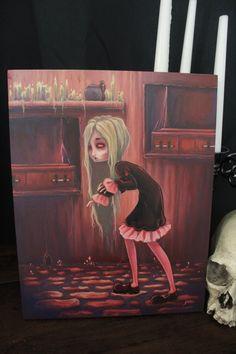 The Creeper Original Vampire lowbrow gothic fantasy art painting Gothic Fantasy Art, Original Vampire, Alternative Art, Fantasy Paintings, Creepy Cute, Creepers, New Art, Original Paintings, Misfits