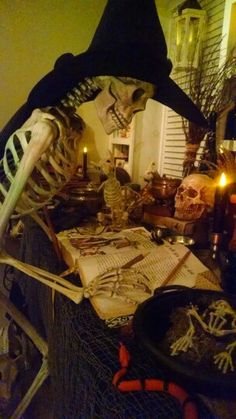 Witch at her spell table...