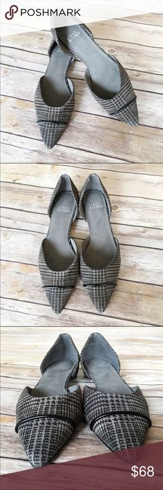 Stuart Weitzman D'orsay Houndstooth Pointed Flats Excellent used condition, no flaws (very little wear on soles) These flats are stunning! Houndstooth print with pointed toe and made in Spain. Run true to size. I usually size up if 7 1/2 runs small and these size 8 are too big for me 😢 Perfect staple piece for your fall and winter wardrobe! (Last photo is stock) Stuart Weitzman Shoes Flats & Loafers