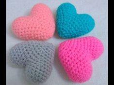 Cómo hacer corazones/hearts a crochet en la técnica del amigurumi - YouTube