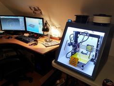 "Naphaniel 3D printed Enclosure for 8"" Makerfarm Prusa i3 by Moczys"