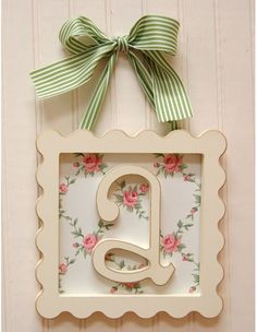 monogrammed wall hanging