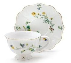 """Lucinda Belle Porcelain Tea Cup and Saucer Set Hand Wash only. FDA Approved. 3""""H X 6""""Diameter. Holds 8 oz. includes 1 teacup and 1 saucer."""