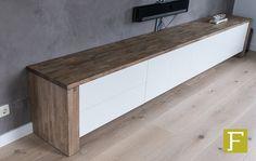 tv meubel dressoir maatwerk design meubelmaker fijn timmerwerk hillegom rubberwood hoogglans wit