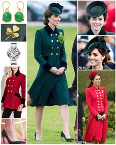 """1,083 Likes, 5 Comments - Catherine Duchess Of Cambridge (@katemidleton) on Instagram: """"Outfit Post!  The Duchess wore a bespoke coat by Catherine Walker to today's St Patrick's Day…"""""""