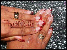 red-powder-nail-art