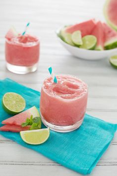 Watermelon Tequila Slush - great cocktail for the last week of summer! #watermelon #tequila #slush