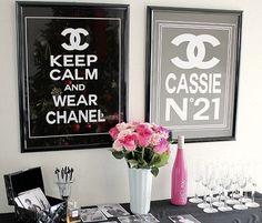 Sempre Noiva: Decoração de Aniversário   Chanel