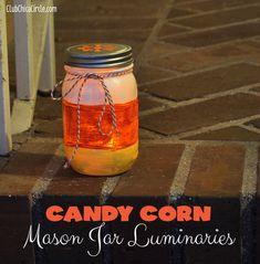 mason jar luminary lit @clubchicacircle