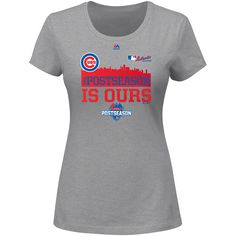 Chicago Cubs 2015 Women's Postseason Locker Room T-Shirt