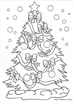Christmas tree – coloring page: Make your world more colorful with free printable coloring pages from italks. Our free coloring pages for adults and kids. Christmas Tree Coloring Page, Christmas Coloring Sheets, Colorful Christmas Tree, Christmas Colors, Xmas Tree, Coloring Book Pages, Printable Coloring Pages, Nativity Coloring Pages, Free Coloring