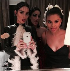 Pin for Later: The Cutest Girlfriend Moments From the Met Gala BFFs Vanessa Hudgens and Selena Gomez stuck their tongues out for a mirror selfie with Banks.