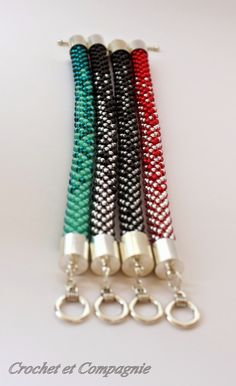 Crochet et compagnie: Schéma de bracelet moitié-moitié