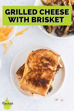 This easy brisket grilled cheese sandwich is bursting with salty, meaty, and cheesy flavor. How many times are you left with just a bit of leftover BBQ brisket? Or maybe pot roast or pulled pork? Turn those great leftovers into an easy brisket grilled cheese instead of eating it the same way for a few days. It'll feel special, yet will just take you 7-10 minutes to throw together. Leftover Pot Roast, Leftover Brisket, Cold Sandwiches, Roast Beef Sandwiches, Pork Tenderloin Recipes, Pork Recipes, Stuffed Pepper Casserole, Stuffed Peppers, Roast Beef Lunch