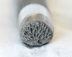 Tree Of Life Metal Design Stamp- Available On Three Different Tool Sizes- Deep Crisp Clear Image- Advantage Stamp Series- SGAD-24