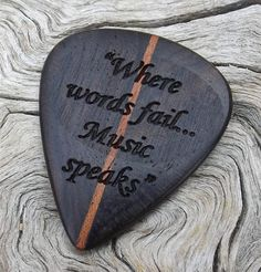 Handmade Laser Engraved Premium Wood Guitar Pick - 2-Sided Design - Yucatan Ziricote and African Mahogany on Etsy, $27.95