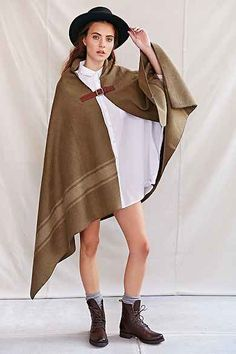 The Local Branch Nomad Blanket Open-Front Poncho
