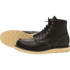 Red Wing Heritage Men's 9075 6-Inch Classic Moc Toe Boot - 10 - Black Harness