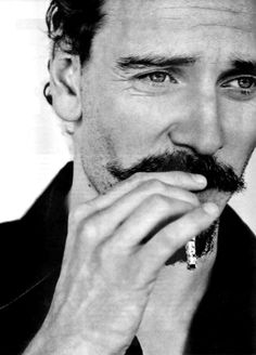 Fassbender, looking classy with the stache, indeed!