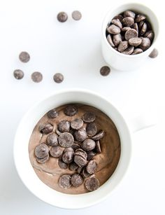 """""""Whipped Double Chocolate Chip Chia Pudding"""" 