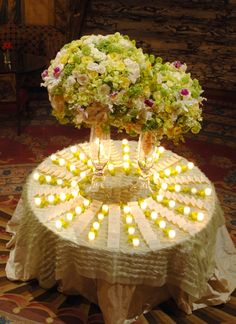 love the candles in between the rows of escort cards Diy Your Wedding, Cute Wedding Ideas, Flower Table Decorations, Wedding Decorations, Preston Bailey, Seating Cards, Yellow Wedding, Table Cards, Wedding Gallery