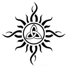 Trinty / Triquetra Sun #tattoo idea | Skin Deep | Pinterest