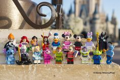 It's about time! Lego is introducing 18 'minifigures' like Mickey Mouse,Peter Pan, Aladdin and the Little Mermaid's Ariel.