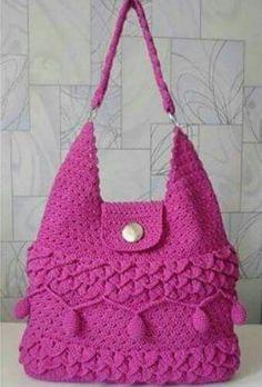 Free Crochet Bag Patterns Part 24 - Beautiful Crochet Patterns and Knitting Patterns Free Crochet Bag, Crochet Tote, Crochet Handbags, Crochet Purses, Slippers Crochet, Crotchet Bags, Knitted Bags, Pinterest Crochet, Crochet Backpack