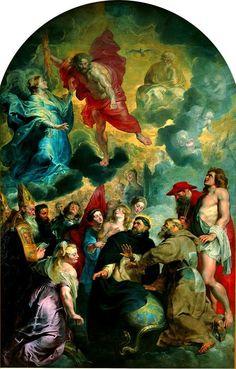Rubens, San Domenico e San Francesco preservando il mondo dall'ira di Gesù Cristo, 1618-1620, Lione, museo di belle-arti