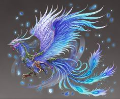 I don't care for the face of most phoenixes I've seen but I kind of like this one.