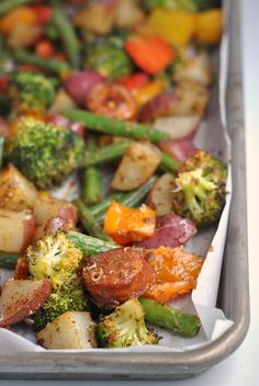 Easy Sheet Pan Cajun Sausage and Veggies #Whole30