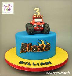 "Gâteau d'anniversaire ""Blaze"" Blaze Birthday Cake, Monster Truck Birthday Cake, Blaze Cakes, Hot Wheels Party, Party Cakes, Cake Cookies, Birthday Party Themes, Desserts, Food"
