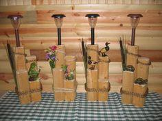 wooden solar garden lights | Wild Life Decorative Solar Lamps