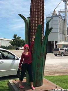 Iowa City, IA - Metal Corn Cob