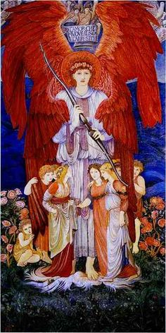 L'mour che muove il sole e l'altre stelle' (The love that moves the sun and other stars') - Edward Burne-Jones