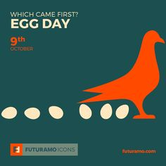 Which came first? Egg Day! All icons used in the series are available in our App. Imagine what YOU could create with them!  Check out our FUTURAMO ICONS – a perfect tool for designers & developers on futuramo.com #futuramo  #futuramoapps  #futuramoicons  #futuramocalendar #icondesign  #icons  #iconsystem  #pixel #pixelperfect  #flatdesign  #ux  #ui  #uidesign  #design #developer  #webdesign  #app  #appdesign #graphicdesign