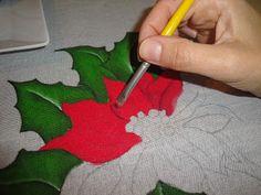 Criar e Pintar o dom que Deus me deu!: Passo a Passo - Flor de Natal - Pintura de Natal