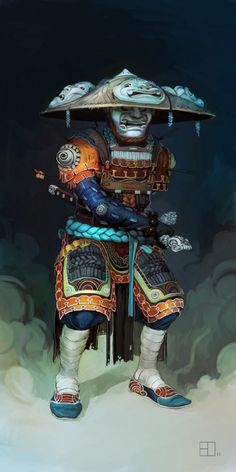 Samurai Art Illustration #Japan #Drawing