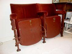 1930's art deco theatre seats....