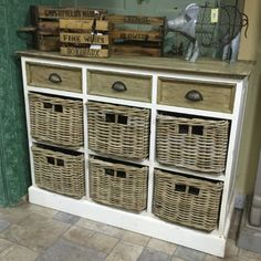 Victorian Styled Basket & Drawer Sideboard – Allissias Attic