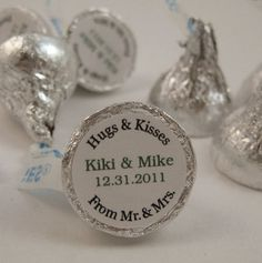 Affordable wedding favors. Could grab a handful and wrap in plastic wrap with ribbon