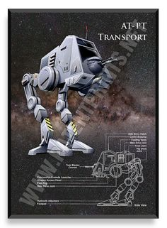 AT-PT Transport, Star Wars Poster